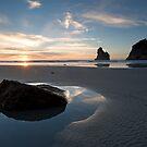 Wharariki Sunset. by Michael Treloar