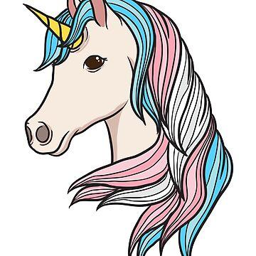 Trans Pride Unicorn Transgender LGBTQ Non-Binary by BlueBerry-Pengu