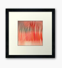 abstract red green lines candle shapes glass decor  Framed Print