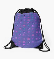 Abstract Squares Drawstring Bag