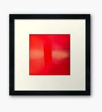 red abstract photograph Framed Print