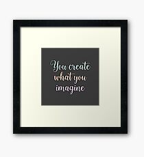 law of attraction buddha Framed Print