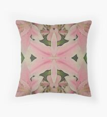 Damask Style Tiger Lily Pattern Throw Pillow