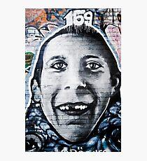 Graffiti Face of teethless boy Photographic Print