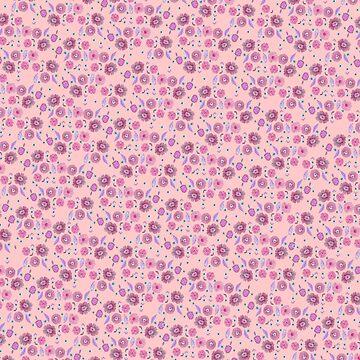 Boho Floral Bloom on soft pink by raquelcasilda