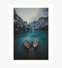 Braies - Dolomites Collection Art Print
