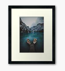 Lámina enmarcada Braies - Colección Dolomitas