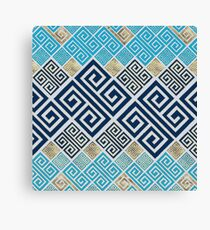 Greek Meander Pattern - Greek Key Ornament Canvas Print