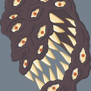 Multi eyes screamer by Gwendal