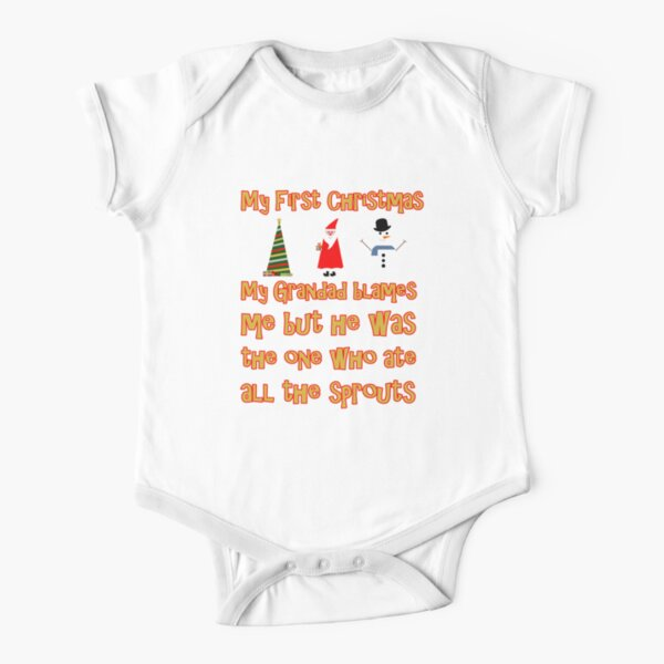 My First Christmas - Grandad Short Sleeve Baby One-Piece