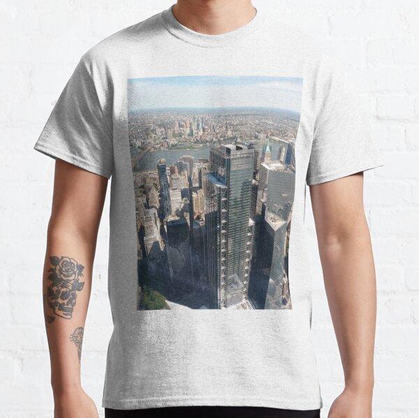 #Manhattan, #NewYorkCity, #downtown, #NewYork, skyscrapers, river, Hudson, bridges, streets Classic T-Shirt