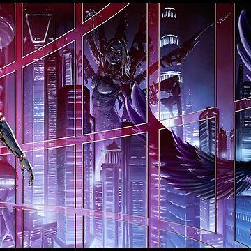 Cyberpunk Cityscape 01 Combined  by Sokoliwski