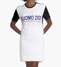 America Was Never That Great - Cuomo 2020 Graphic T-Shirt Dress
