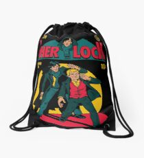 Sherlock Comic Drawstring Bag