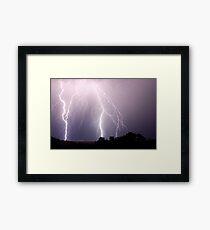 Lightning Blast over Coraki Framed Print