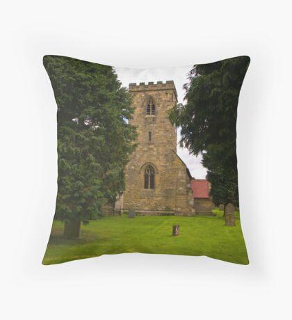 St Mary's Church - Myton on Swale Throw Pillow
