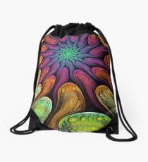 Reflections, fractal abstract wallart Drawstring Bag