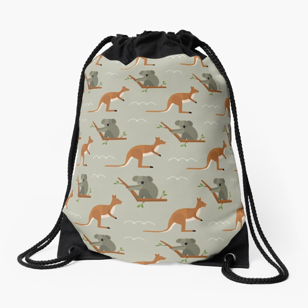 Outback adventures Drawstring Bag