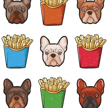 Frenchie Fries French Bulldog French Fries Graphic by UGRcollection