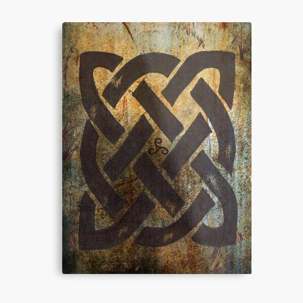 The Dara Celtic Symbol Metal Print