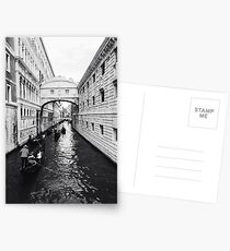 Black and white Venice canal Postcards