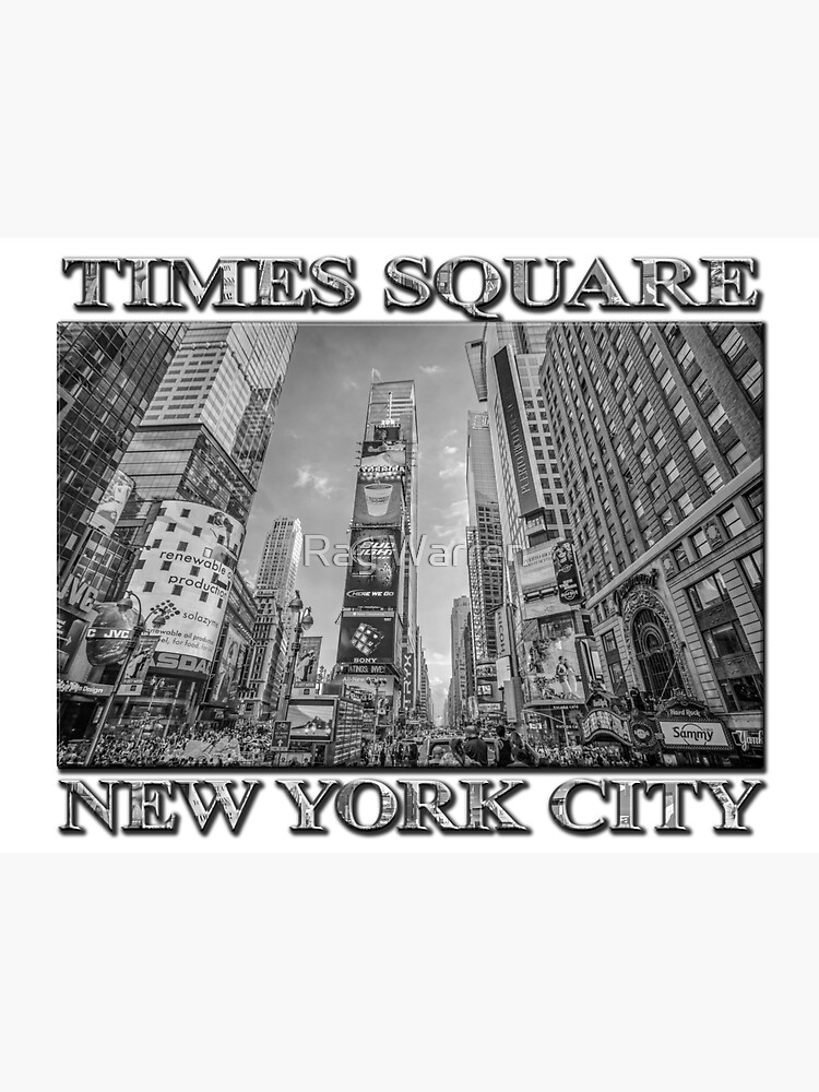 Times Square Hustle B&W by RayW