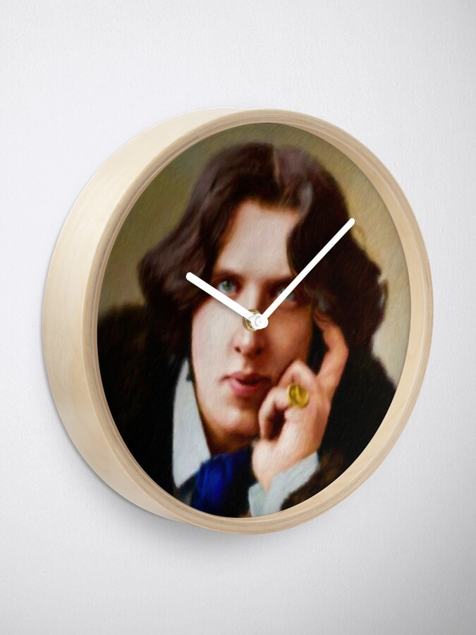 Alternate view of Oscar Wilde, Literary Legend Clock
