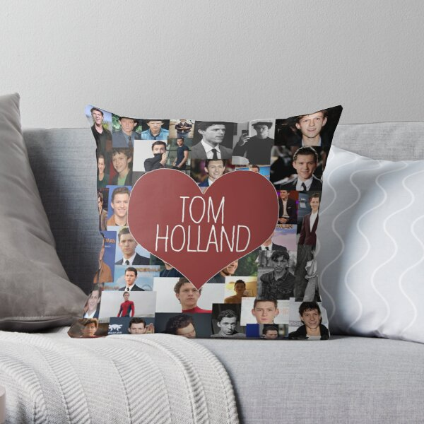 I love Tom Holland collage Throw Pillow