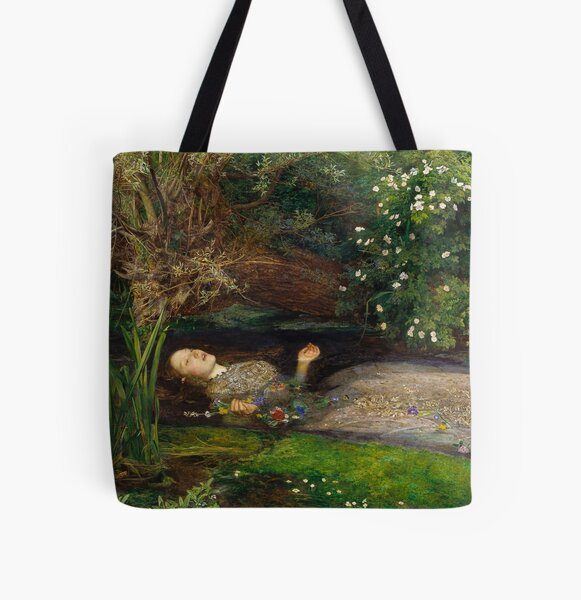 Ophelia - John Everett Millais All Over Print Tote Bag