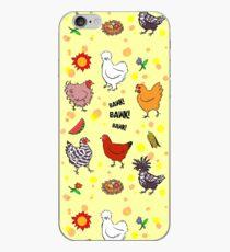 Cute seamless chickens pattern cartoon iPhone Case