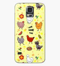 Nette nahtlose Hühnermusterkarikatur Hülle & Skin für Samsung Galaxy