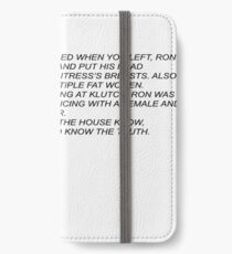 Sammi Anonymous Letter iPhone Wallet/Case/Skin