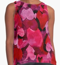 Adorable Watercolor Texture Bright Girly Design  Contrast Tank