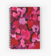 Adorable Watercolor Texture Bright Girly Design  Spiral Notebook