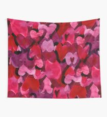Adorable Watercolor Texture Bright Girly Design  Wall Tapestry