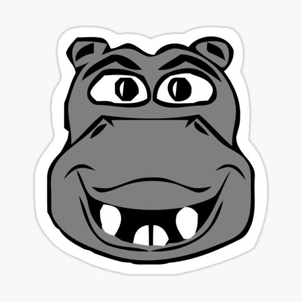 hippopotame pour enfants Sticker