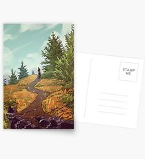 Beobachter der Wanderer Postkarten
