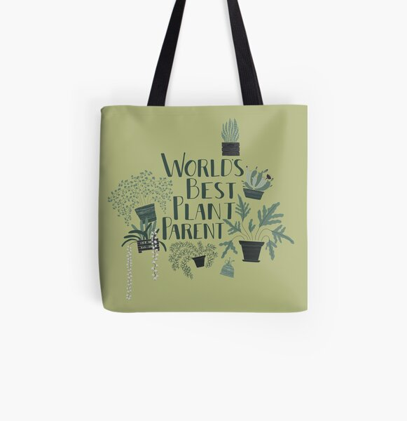 World's Best Plant Parent All Over Print Tote Bag