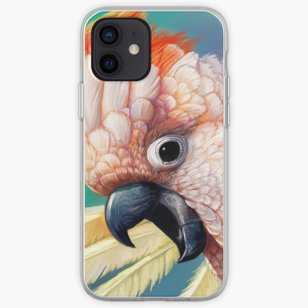 Moluccan Cockatoo realistic painting iPhone Case & Cover