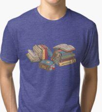 Camiseta de tejido mixto Libros
