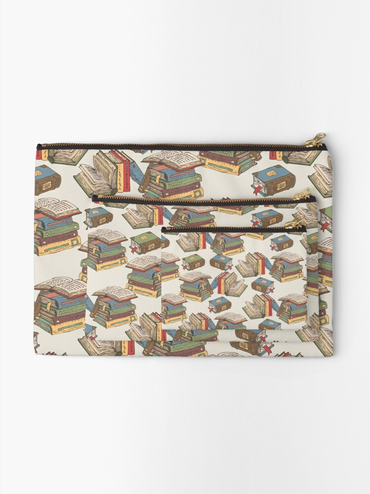 Alternate view of Books Zipper Pouch