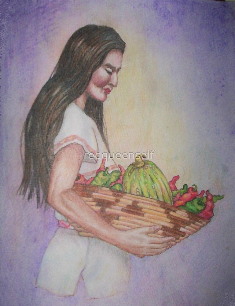 Navajo Madonna and Jalapenos by redqueenself