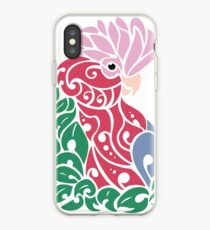 Galah cockatoo tribal tattoo pink rose-breasted parrot iPhone Case