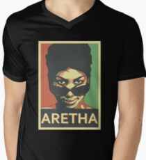 Aretha Franklin Shades Men's V-Neck T-Shirt