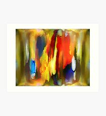 Abstraktes in Farbe Art Print