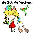 My birds my happiness cute cartoon by lifewithbirds
