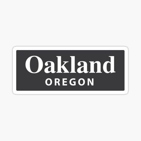 Oakland, Oregon Sticker