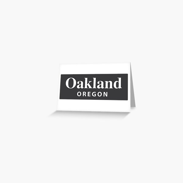 Oakland, Oregon Greeting Card