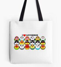 Lovebird-Farbmutationen Tasche