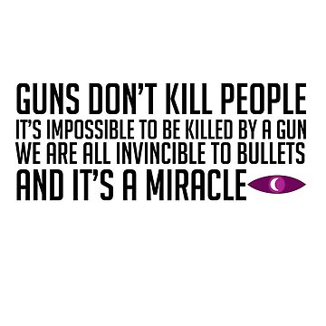 Guns Don't Kill People Sticker WTNV by nekhebit